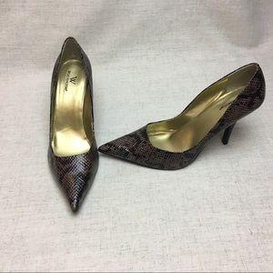 Worthington Size 10 Snakeskin Heels